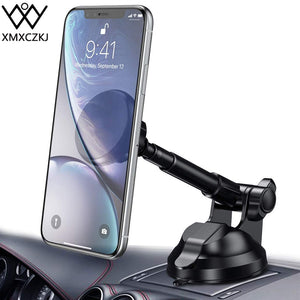 XMXCZKJ Universal 360 Rotation Magnet Car Windscreen Phone Holder Mobile Phone mount for Iphone XS Flexible Arm Phone stand