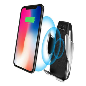 Automatic Smart Sensor Car Wireless Charger S5 car phone holder  stand by QC Qi 10W fast charging  For Iphone XR  XIAOMI OPPO