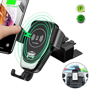 Car CD Slot Wireless Charger Phone Holder for Samsung S10 Plus S10e Huawei P30 CD Mount Universal Fast Charging for iPhone X XS
