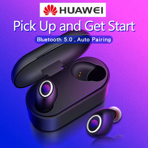 Fingerprint Touch Bluetooth Earphones 5.0 TWS for Huawei Mate P30 P20 P10 9 Pro nova 4 e 7 8 Honor Wireless Earbuds dual Mic