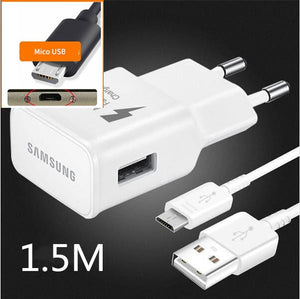 Samsung Charger Adaptive Fast Charger adapter USB Micro cable For a8 a7 A6 a5 A9 C5 C7 Note 2 4 5 J3 J5 2017 J7 S6 S7 edge S4 S8