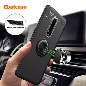 For Oneplus 7 Pro Case Silicone Holder Stand Magnetic Car Holder Ring Phone Case for Oneplus 6 6T 7 Pro Case Ring Magnetic Cover