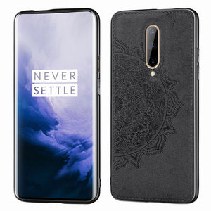 Cloth Texture 1+7pro Case For Oneplus 7 Luxury Fabric Leather Magnetic Cover For Oneplus 7 Pro Car Holder Protective 1+7 Carcasa