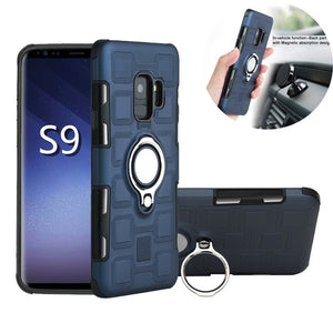 For Samsung Galaxy A3 5 7 2017 A8 plus J8 2018 S9 Hybrid Cover For Samsung Galaxy S8 s9 plus Note 9 8 Car Stand Magnet Suction