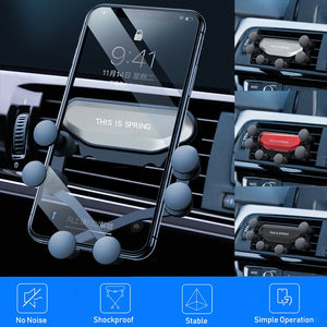 Universal Gravity Car Phone Holder Air Vent Auto Grip Mount Stand For Huawei P30 Pro No Magnetic Mobile Smartphone Cell Support