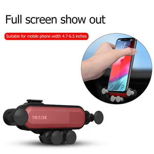 Universal Car Gravity Holder for Samsung S10 5G Air Vent Mount Stand for iPhone X XS Mobile Phone GPS Stand for Huawei P30 Pro