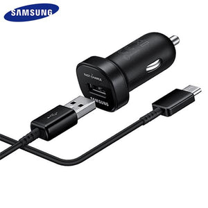Samsung note9 S9 S8 plus Fast Car Charger Original Adapter 18W 9V2A 1.2m USB Type C Cable Travel USB Note8 S 9 S 8 C5 C7 C9pro