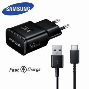 Original Samsung Adaptive Fast Charger USB Quick Charge Adapter TYPE C Cable For Galaxy S8 S9 s10 Plus s10e Note 8 9 A5 A7 2017