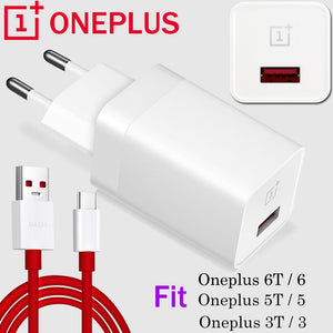 100% Original Oneplus Dush Charger 5V 4A Travel wall charger oneplus 6 6T 5 5t 3 3t EU US UK Adapter 1mm Type-C date dush Cable