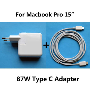 "New 20.2V 4.3A 87W Power Adapter Charger USB-C Type C Cable Charger For Macbook Pro 15"" Inch"