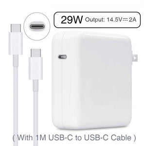 New Laptop Charger AC Power Chargeur 29W 14.5v 2A 1 meter USB Type C  Cable EU US Power Cord Wholesale For New Macbook Tablet