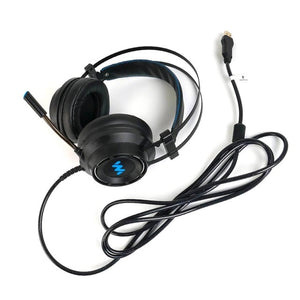 7.1 Gaming Headset Headphones with Microphone for PC Computer for Xbox One Professional Gamer Surround Sound RGB Light