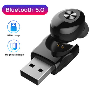 USB Bluetooth Headset For Xiaomi Redmi k20 pro Oneplus 7 pro Charging Bluetooth 5.0 Earphone For iPhone X XS Max XR 7 8 6 Plus