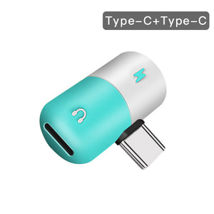 !ACCEZZ Pill Shape Adapter USB Type C For Huawei P20 Samsung S8 S9 Plus Note 8 3.5mm Jack Aux Adapter For HTC Oneplus 7 Pro Mi 9
