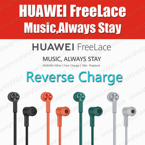 in Stock HiPair Huawei FreeLace Sport Earphones Bluetooth wireless Headset Reverse Charge P30 Pro IPX5 Magnetic Switch