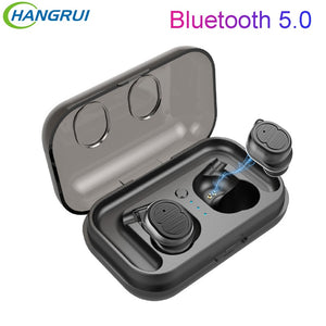 Hangrui Wireless Headphones Magnetic Bluetooth 5.0 Earphone Earbud for iPhone XS Max Samsung S10 Huawei P30 Pro With Micphone