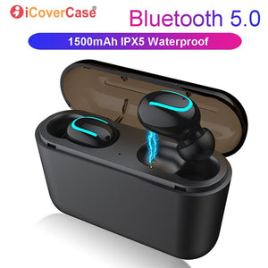 for Huawei P30 P30 Pro P20 Lite Mate 20 10 P10 Plus P9 P8 Lite 2017 Twins Wireless Earbuds Bluetooth Earphone with Charging Box