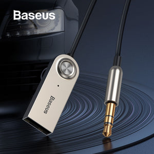 Baseus 3.5MM Car AUX Audio Line Wireless Bluetooth Receiver Transmitter Audio Cable Handsfree Speaker Headphone Adapter