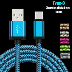USB Type C Charging Cable For Samsung Galaxy A50 A70 A80 S9 S8 S10 1/2 Meter Long Mobile Phone Charger Oneplus 7 Pro Short Cord
