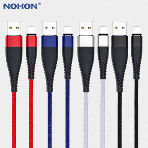 20cm 1M 2M 3M Long USB Cable For iPhone Xs Max XR X 10 8 7 6 s 6s Plus 5 5s SE iPad Mini Fast Charger Origin Data Sync Wire Cord