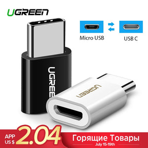 Ugreen OTG Type-C Adapter USB C to Micro USB OTG Cable Thunderbolt 3 USB Type C Adapter for Macbook Pro Samsung S9 One plus USBC