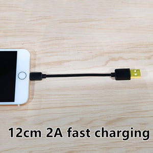 CatXaa 12cm Short Charging Cable 2A Fast Charger Gold Plated Data Adapter Brief Wire For Apple Iphone 5 5s 6 6s 7 8 X Xs Plus