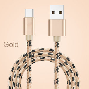 USB Type C Cable For Samsung Xiaomi Redmi Note 7 K20 Oneplus 7 Pro Fast Charging USB-C Charger Mobile Phone USBC Cable 2m