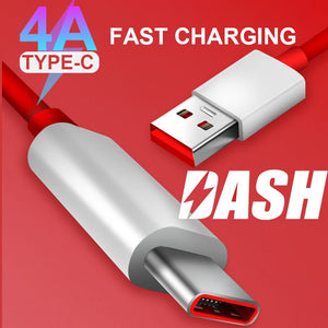 4A DASH Type C PD Cable For Oneplus 7 Pro Fast Charging USB Data Sync USB C Cable for OnePlus 6 6T USB-C Charger Mobile Phone