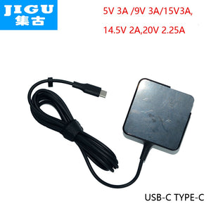 JIGU Fast Charger Type-C Power Adapter 45W 5V 9V 12V 3A 14.5V2A 15V3A 20V2.25A for MacBook Pro Laptop Tablet Phone USB-C Device