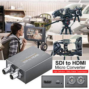 SDI to HDMI / HDMI to SDI with Power Mini 3G HD SD-SDI Video Micro Converter Adapter with Audio Auto Format Detection for Camera