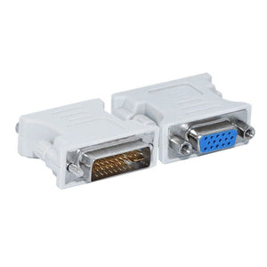 L-Shape DVI-I to VGA Adapter,90 Degree DVI 24+5 29Pin Male to VGA 15 Pin Female Converter Connecter Adapter for Laptop