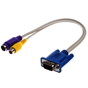 Top Deals TV-out VGA to S-Video/RCA Cable Adapter