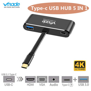 Vmade USB Type-c 5 in 1 charge PD 3.0 charge 4k*2k HDMI STATION USBC multi-ports MacBook,Samsung Galaxy Note,Lenovo Yoga 720