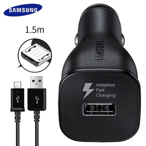 Samsung S7 S6 edge Fast Car Charger 9V1.67A & 5V2A 1.5m Micro USB Cable Cable 2USB Quick Adapter Note2 Note4 Note5 note edge
