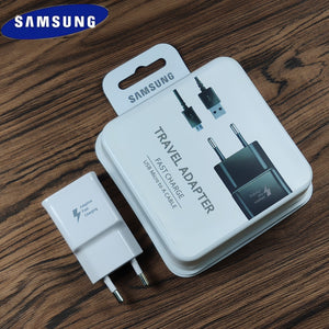 Original EU/US Samsung Charger fast quick charge adapter and USB Micro cable For Galaxy a8 a6 a5 Note 4 5 J3 J5 J7 S6 S7 edge S4