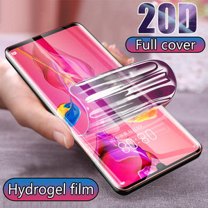20D Hydrogel Protective Film For Huawei P10 P20 Lite P30 Pro Screen Protector Full Cover For Honor 10 8 9 Lite Not Glass