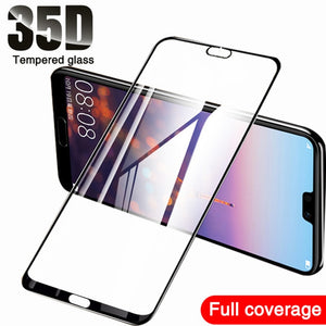 35D Tempered Glass On For Huawei P20 Pro P30 P10 Lite Plus Protective Glass For Huawei Mate 20 10 Lite Pro Screen Protector Film