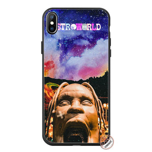 YIMAOC travis scott astroworld Soft Silicone Phone Case for iPhone 11 Pro XS Max XR X 6 6S 7 8 Plus 5 5S SE 10 TPU Black Cover