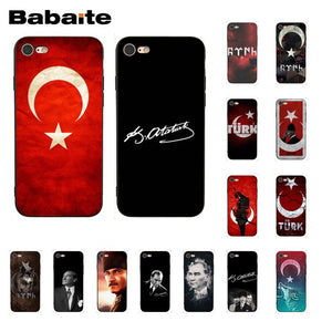 Babaite Flag of Turkey Istanbul Antalya mustafa Phone Case for iphone 11 Pro 11Pro Max 8 7 6 6S Plus 5 5S SE XR X XS MAX Coque