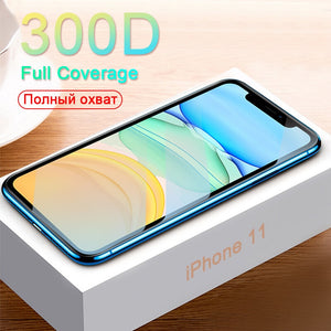 300D Protective Glass on the For iPhone 11 Pro X XS MAX 11 glass full cover iPhone 11 Pro Max XR Screen Protector Tempered Glass