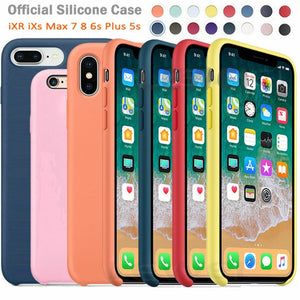 Luxury Original Official Silicone LOGO Case For iPhone 5SE 6s 7 8Plus Liquid Case For Apple iPhone 11 X XS Max XR 11pro MAX Case
