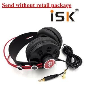 Hot ISK HP-580 Original Headphone Semi-open Dynamic Stereo Monitoring Earphone DJ Headset Noise Cancelling Headset Noise cancel