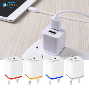 KOYOT Universal 2 Ports USB Wall Charger Travel Adapter 5V 3.1A for iPhone Samsung iPad 4 Colo APPLE EU US Plug