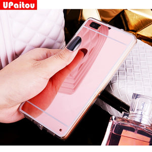 UPaitou Mirror TPU Case for Huawei P10 P8 P9 Lite Mate 9 GR5 2017 Y6 Y5 II Back Cover Honor 5 6C 6X 5X 8 Pro /Nova/G9 Plus Case