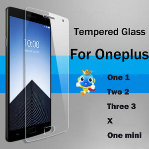 Screen Protector Tempered Glass for Oneplus 1+ 1 2 3 Toughened Glass Cover for One plus one two three X A0001 A2001 A3000 5 6T