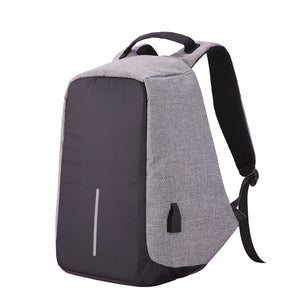 2018 new Canvas Men Backpack Anti Theft With Usb Charger Laptop Business Unisex Knapsack Shoulder Waterproof Women Travel Bag