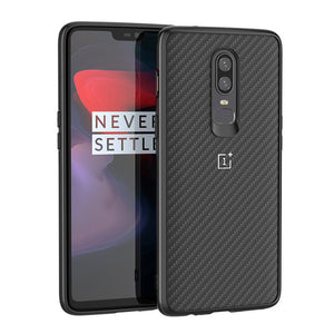 For Coque Oneplus 6 Case On One Plus 6 Cases Cover Original Nylon Carbon Fiber Pattern Back TPU PC Hybrid Shockproof 6.28 inch