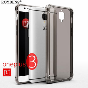 Roybens For Oneplus 3 Case For Oneplus 3T Fashion Crystal Transparent Silicone Case For Oneplus 5 Three Five Clear TPU Cover Bag