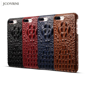 LoveCase 100% Genuine leather 3D relief crocodile pattern phone back cover for iPhoneXR XS 7 plus luxury high quality phone case