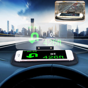Universal Mobile Phone HUD Car Holder Windscreen Projector HUD Head Up Display 6.5 Inch For iPhone for Samsung GPS